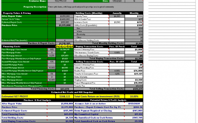 How We Use the Deal Analyzer to Be Certain We'll Turn a 10% or More Profit on Our Next Property